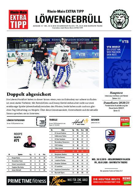 Löwengebrüll, 16. und 17. Heimspiel vom 30.12.2019
