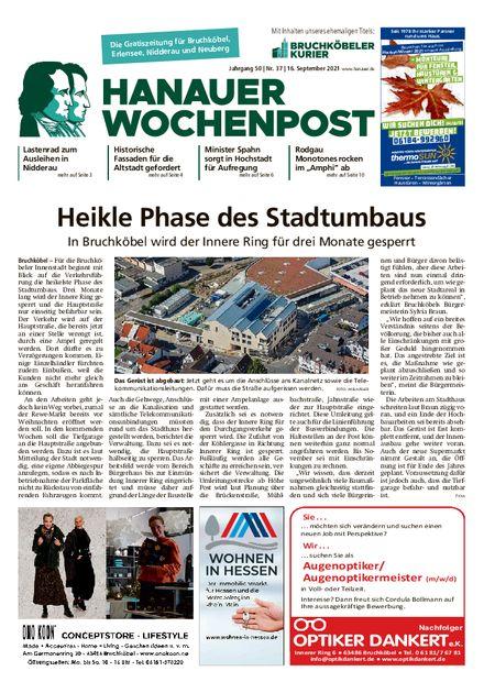 Hanauer Wochenpost West vom 15.09.2021