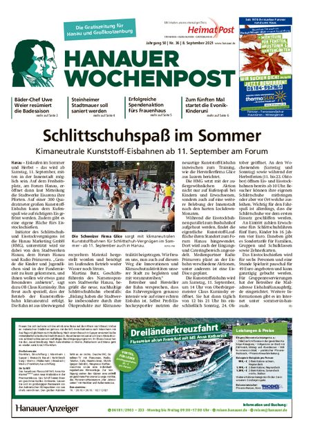 Hanauer Wochenpost Stadt vom 08.09.2021
