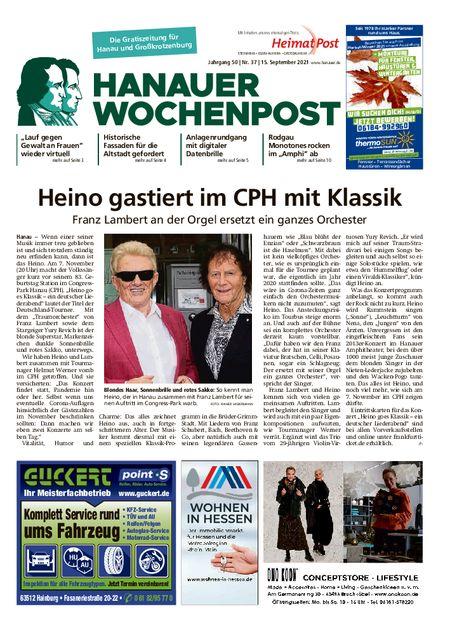 Hanauer Wochenpost Stadt vom 15.09.2021