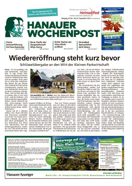 Hanauer Wochenpost Stadt vom 22.09.2021