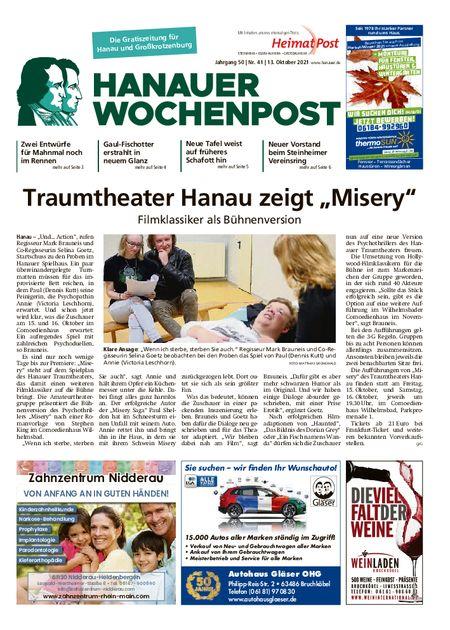 Hanauer Wochenpost Stadt vom 13.10.2021