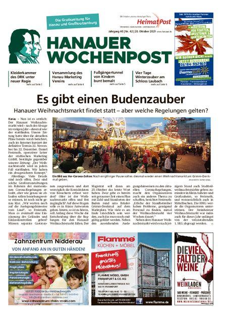 Hanauer Wochenpost Stadt vom 20.10.2021