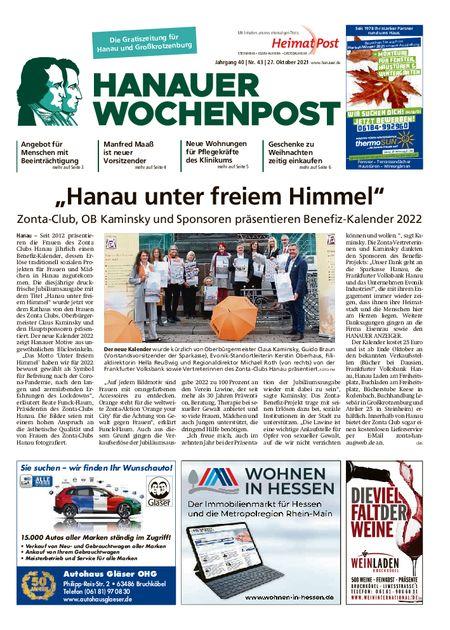 Hanauer Wochenpost Stadt vom 27.10.2021