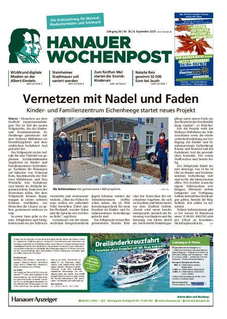 Hanauer Wochenpost Maintal vom 08.09.2021
