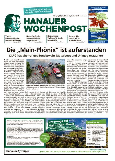 Hanauer Wochenpost Maintal vom 22.09.2021