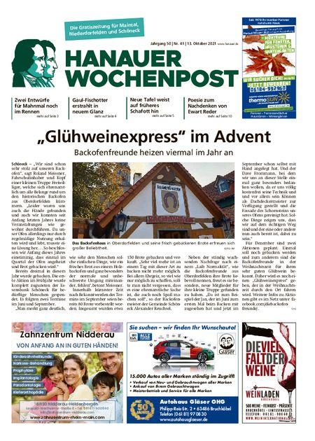 Hanauer Wochenpost Maintal vom 13.10.2021
