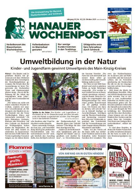 Hanauer Wochenpost Maintal vom 20.10.2021