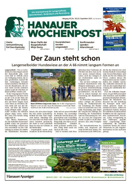 Hanauer Wochenpost Ost vom 22.09.2021