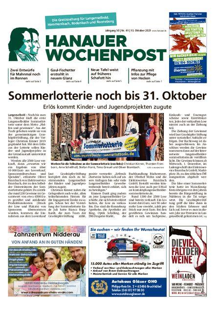 Hanauer Wochenpost Ost vom 13.10.2021