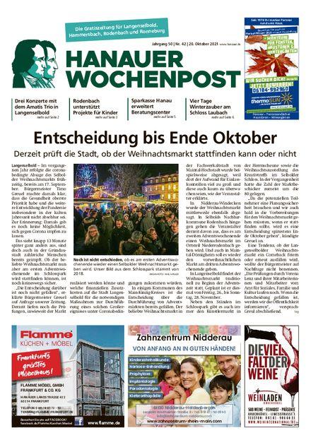 Hanauer Wochenpost Ost vom 20.10.2021
