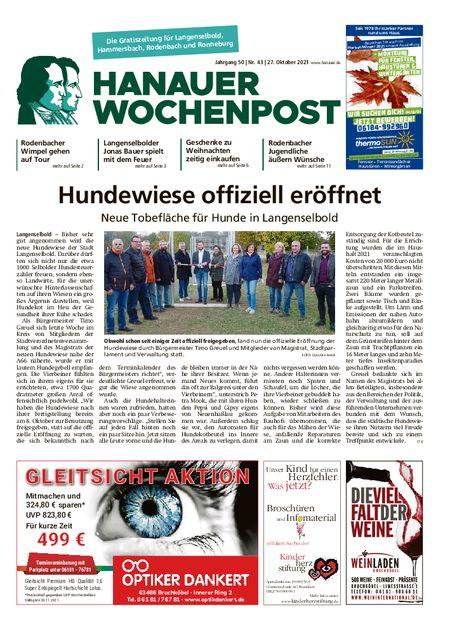 Hanauer Wochenpost Ost vom 27.10.2021
