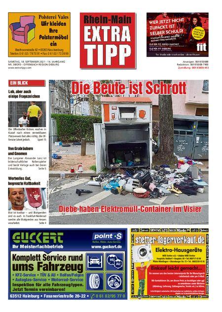 Extra Tipp OF Dieburg vom 18.09.2021