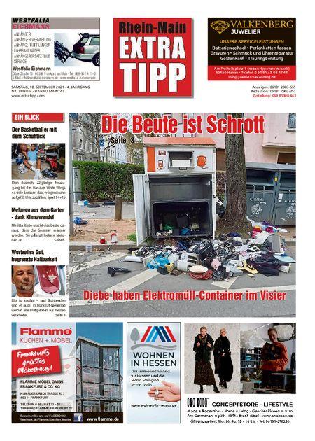 Extra Tipp Hanau Maintal vom 18.09.2021