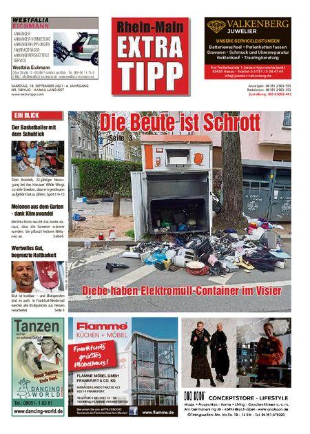 Extra Tipp Hanau Ost vom 18.09.2021